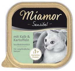 Konservi kaķiem - Miamor Feine Sensibel ar teļa gaļu un kartupeļiem, 100g