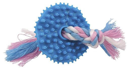 Rotaļlieta suņiem - DogFantasy Rotaļlieta zobiem, izgatavota no termoplastiskas gumijas, zila, 7,5 cm