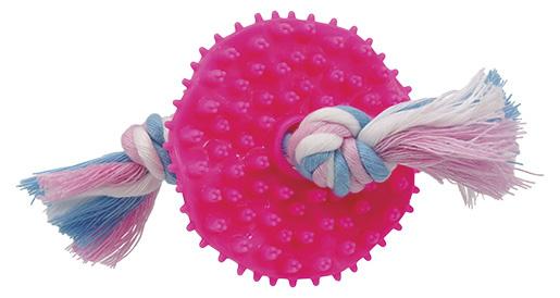 Игрушка для собак - DogFantasy Игрушка для зубов из термопластичного каучука, розовый, 7,5 cm