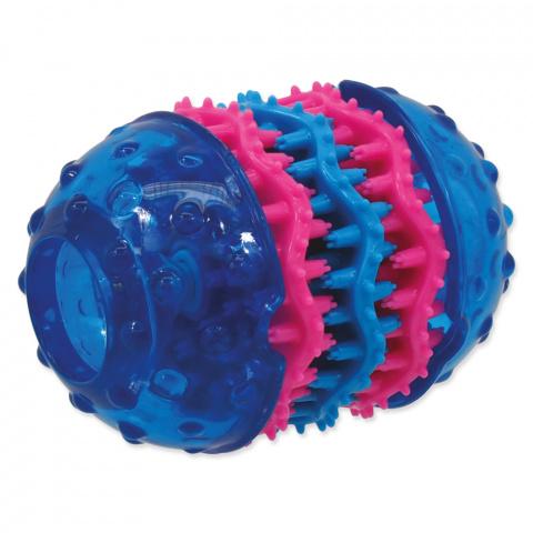 Rotaļlieta suņiem - DogFantasy Rotaļlieta zobiem no termoplastiskas gumijas, zila, 10,8*8 cm