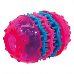 Rotaļlieta suņiem - DogFantasy Rotaļlieta zobiem no termoplastiskas gumijas, rozā, 10,8*8 cm