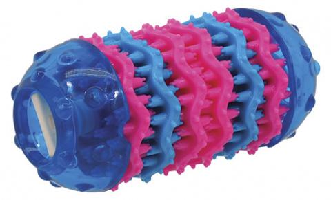 Rotaļlieta suņiem - DogFantasy Rotaļlieta zobiem no termoplastiskas gumijas, zila, 13,7*6,4 cm title=
