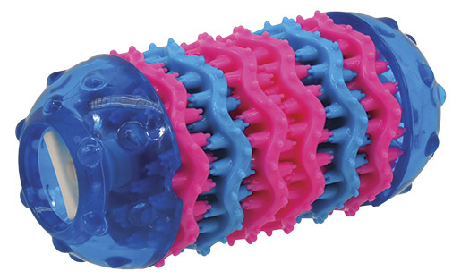 Rotaļlieta suņiem - DogFantasy Rotaļlieta zobiem no termoplastiskas gumijas, zila, 13,7*6,4 cm