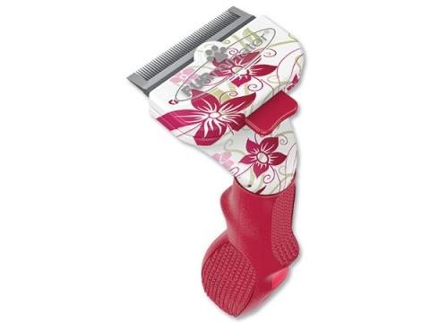 Расческа-фурминатор для кошек - FURminator deShedding tool Limited Edition, для короткой шерсти, S title=