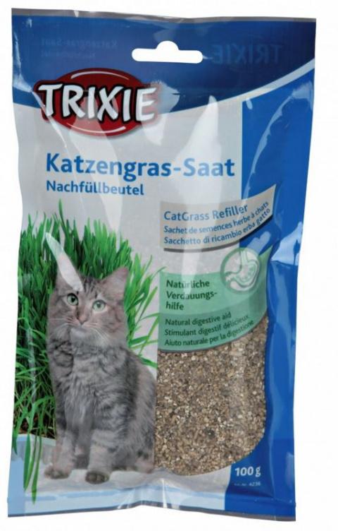 Zāle kaķiem - TRIXIE Katzengras (bag), 100 g title=