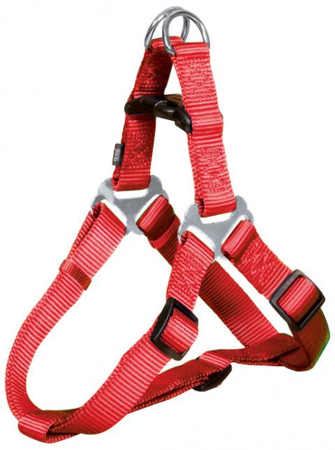 Krūšu siksna suņiem - Premium One Touch harness, M: 50–65 cm/20 mm, sarkana