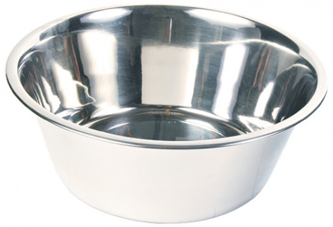 Bļoda suņiem – TRIXIE Stainless Steel Bowl, 4,5 l/28 cm title=