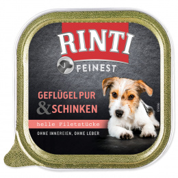 Консервы для собак - Rinti feinest, с курицей и ветчиной, 150 г