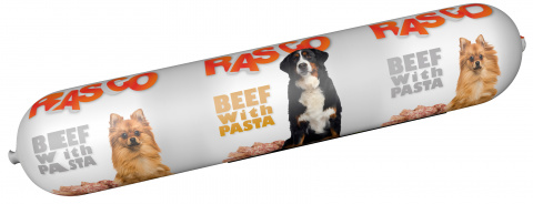 Консервы для собак - Salami Rasco Beef with Pasta, 900 г title=