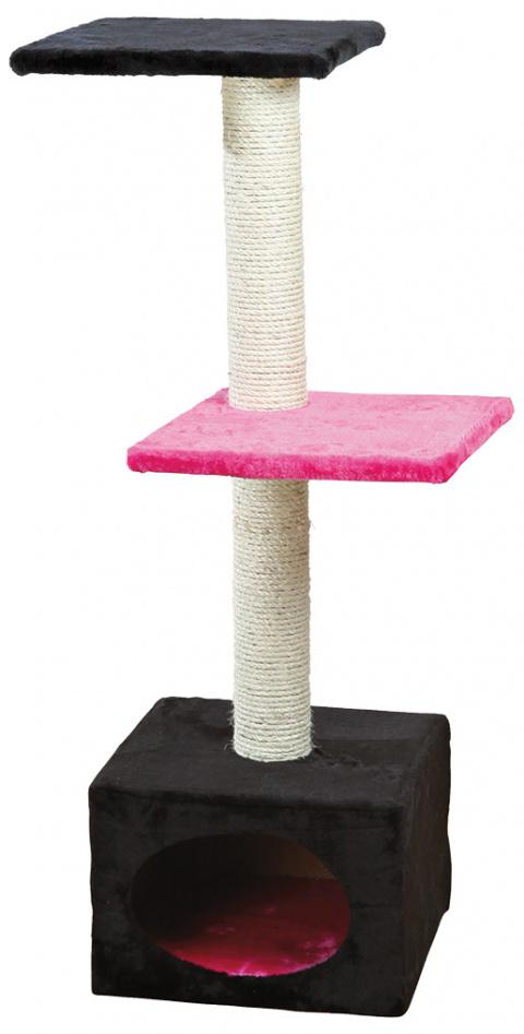 """Mājiņa kaķiem - TRIXIE """"Badalona"""", 109cm, krāsa - melna/fuksi"""