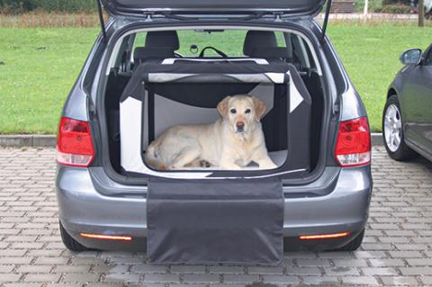 Transportēšanas bokss dzīvniekiem – Trixie, Vario Mobile Kennel, M–L, 91 x 58 x 61 cm, black/grey title=
