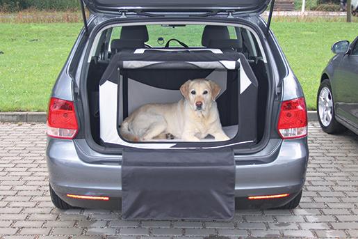 Transportēšanas bokss dzīvniekiem – Trixie, Vario Mobile Kennel, M–L, 91 x 58 x 61 cm, black/grey