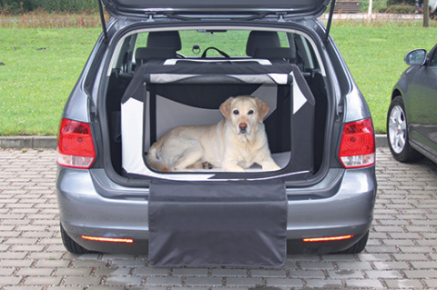 Транспортировочный бокс для животных - Trixie, Vario Mobile Kennel, M–L, 91 x 58 x 61 см, black/grey title=