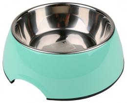 Bļoda suņiem metāla - Dog Fantasy nerūsējošā tērauda bļoda 2in1, 350ml, krāsa - zaļa