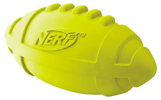 Rotaļlieta suņiem - NERF Rubber Squeak Football, 17 cm