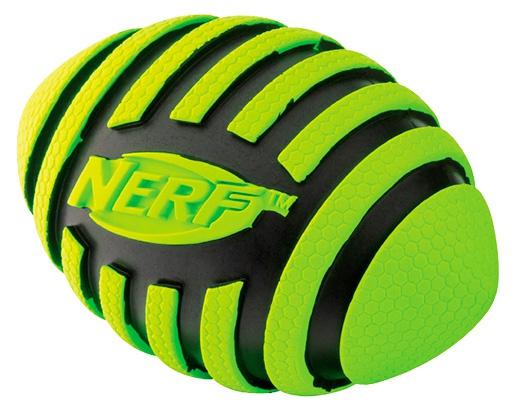 Rotaļlieta suņiem - NERF Rubber Squeak Football, 12,7 cm