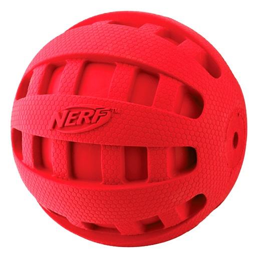 Rotaļlieta suņiem - NERF Squeak Checker Ball, 10 cm