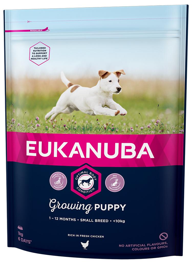 Barība kucēniem - Eukanuba Puppy & Junior Small, 1kg