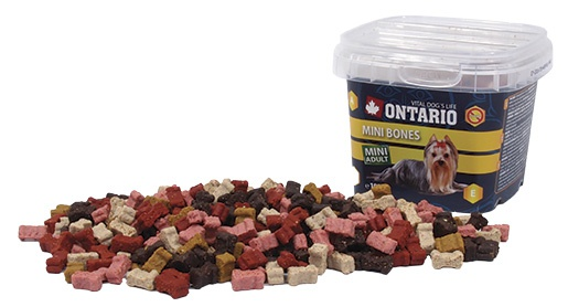 Gardums suņiem - Ontario Snack Mini Bones 100g