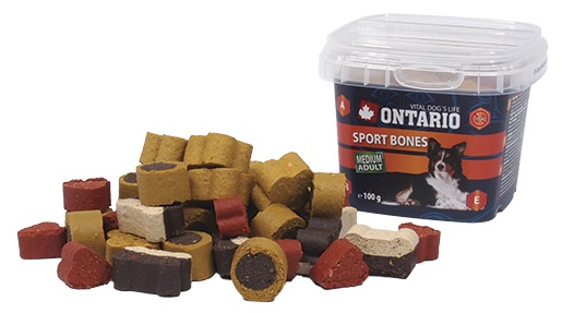 Gardums suņiem - Ontario Snack Sport Bones 100g