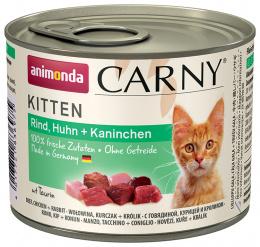 Konservi kaķiem - Carny Kitten Beef, Chicken & Rabbits 200g