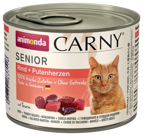 Консервы для кошек - Carny Senior Beef & Turkeyhearts, 200 г