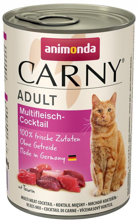 Konservi kaķiem - Carny Adult Multi-Meat cocktail, ar gaļas kokteili, 400 g