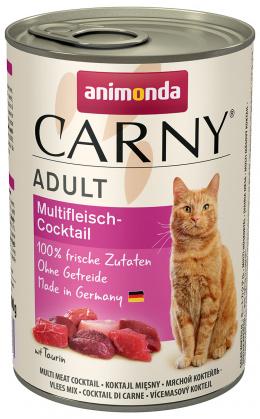 Консервы для кошек - Carny Adult Multi-Meat cocktail, с мясный коктейлем, 400 г