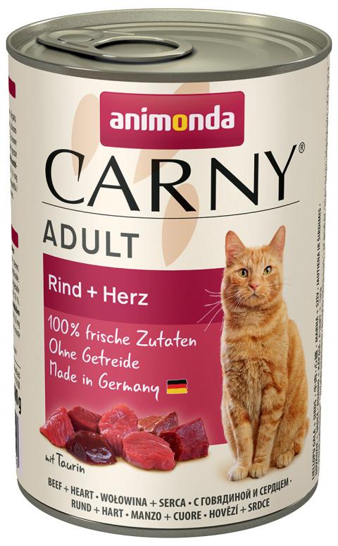 Konservi kaķiem - Carny Adult, ar liellopa gaļu un sirsniņām, 400 g