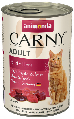 Konservi kaķiem - Carny Adult, ar liellopa gaļu un sirsniņām, 400 gr