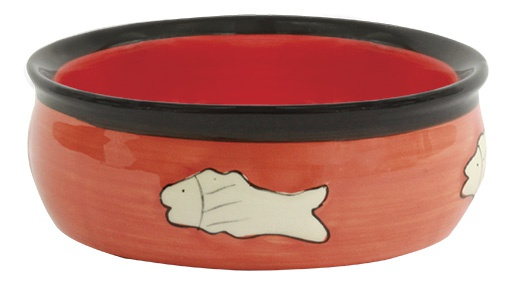 Миска для кошек - MAGIC CAT, Ceramic Bowl with fishbone, 12.5 cm