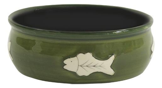 Bļoda kaķiem - MAGIC CAT, Ceramic Bowl with fishbone, 12.5 cm