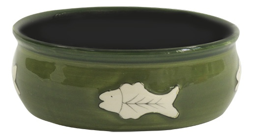Миска для кошек - MAGIC CAT, Ceramic Bowl with fishbone, 12.5 cm