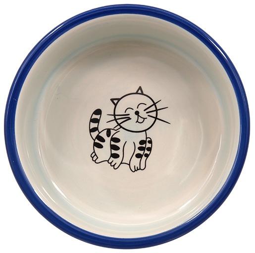 Bļoda kaķiem – MAGIC CAT, Ceramic Bowl with Paws, Blue, 12,5 cm