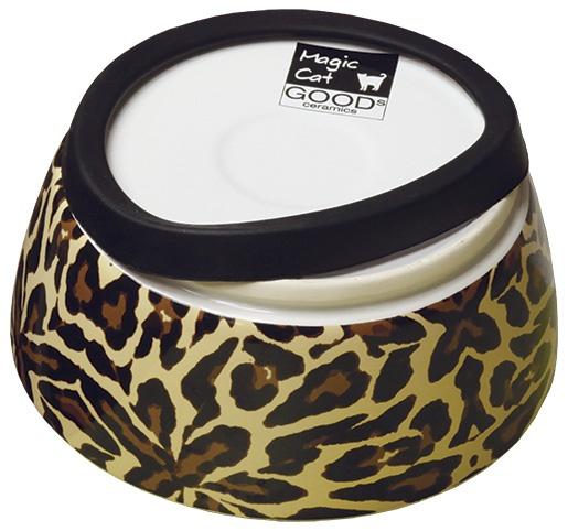 Bļoda kaķiem – MAGIC CAT, Ceramic Bowl with anti-slip rubber, 13,5 cm
