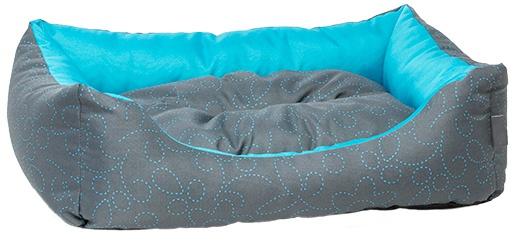 Спальное место для собак - Dog Fantasy DeLuxe Sofa, 63x53x18 cм, blue