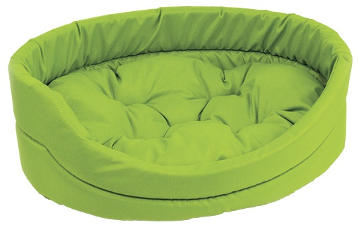 Спальное место для собак - DogFantasy DeLuxe oval bed, 54 x 46 x 16 см, green