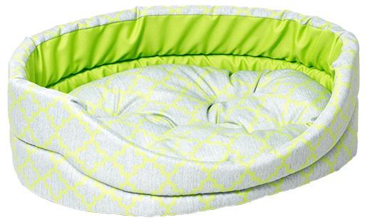 Лежанка для собак - Dog Fantasy DeLuxe oval, 84*74*20 cm