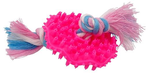 Rotaļlieta suņiem - DogFantasy Rotaļlieta zobiem, izgatavota no termoplastiskas gumijas, rozā, 7,5 cm