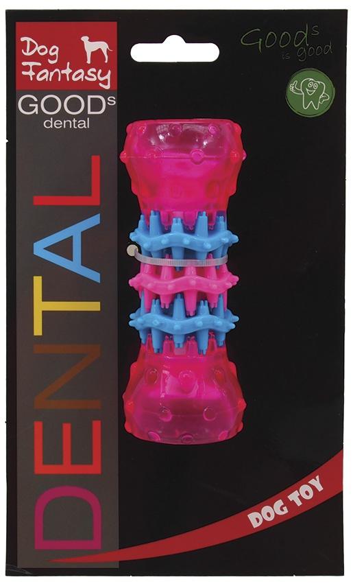 Rotaļlieta suņiem - DogFantasy Rotaļlieta zobiem no termoplastiskas gumijas, rozā, 10*4 cm