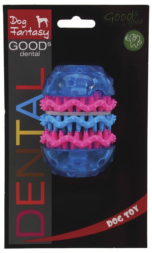 Rotaļlieta suņiem - DogFantasy Rotaļlieta zobiem no termoplastiskas gumijas, zila, 9,8*6,4 cm