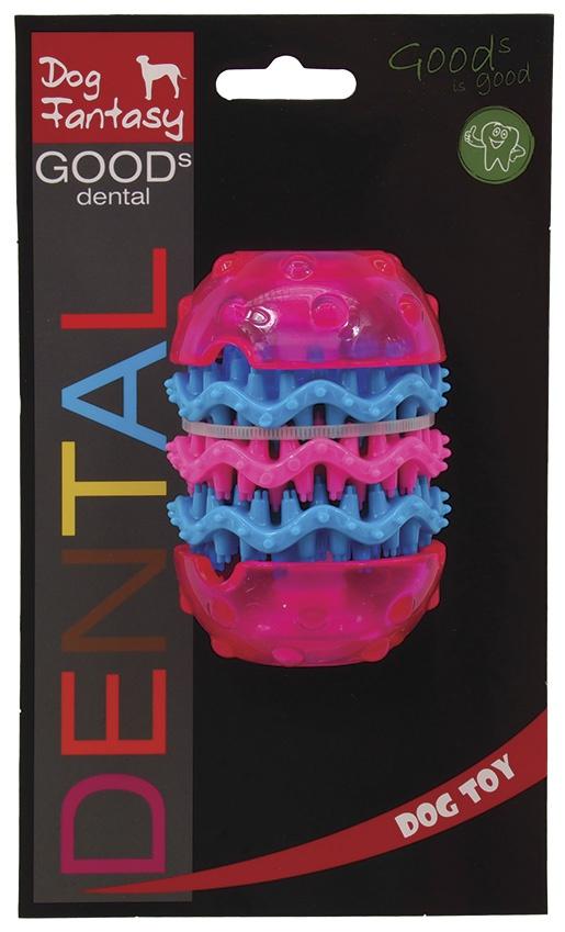 Игрушка для собак - DogFantasy Игрушка для зубов из термопластичного каучука, розовый, 9,8*6,4 cm