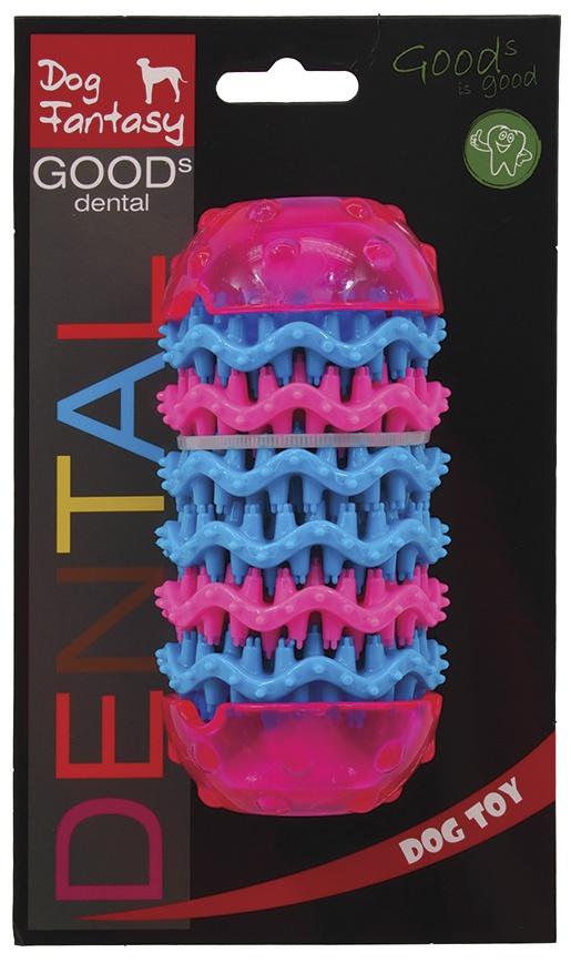 Rotaļlieta suņiem - DogFantasy Rotaļlieta zobiem no termoplastiskas gumijas, rozā, 13,7*6,4 cm