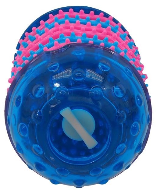 Rotaļlieta suņiem - DogFantasy Rotaļlieta zobiem no termoplastiskas gumijas, zila, 14,4*8 cm