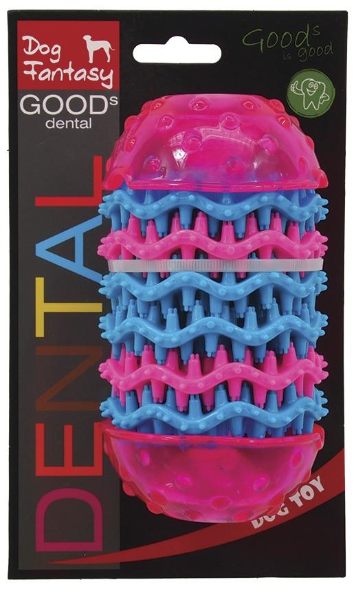 Rotaļlieta suņiem - DogFantasy Rotaļlieta zobiem no termoplastiskas gumijas, rozā, 14,4*8 cm