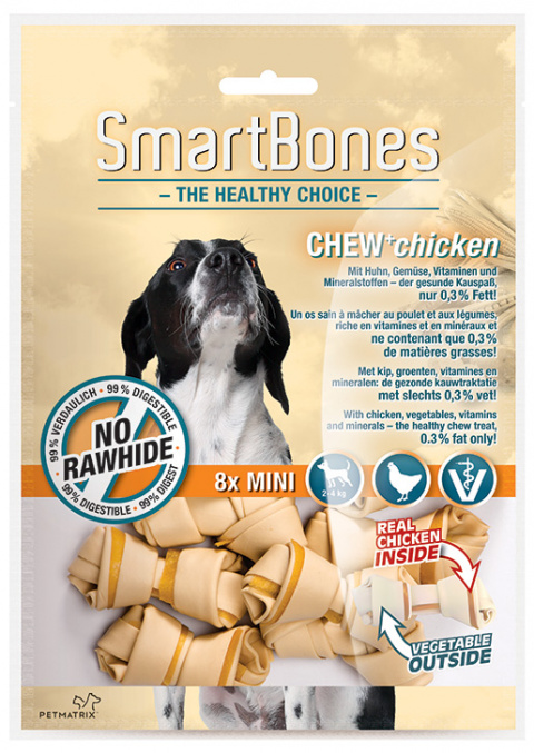 Gardums suņiem - SmartBones Chew+Chicken mini, 8gb. title=