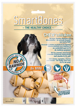 Gardums suņiem - SmartBones Chew+Chicken mini, 8gb.