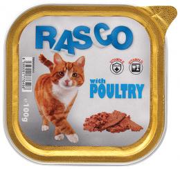 Konservi kaķiem - RASCO ar mājputnu gaļu, 100g