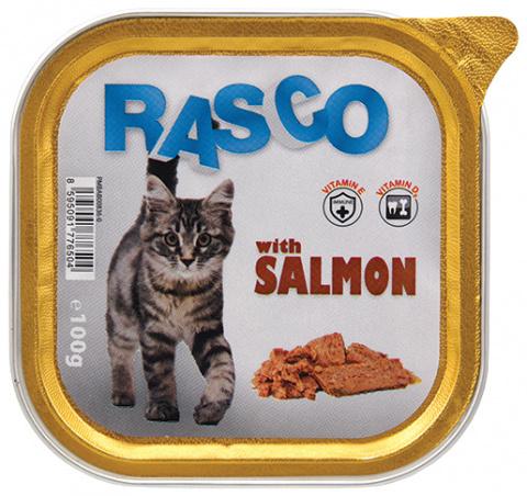 Konservi kaķiem - RASCO ar lasi, 100g title=