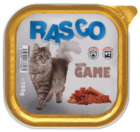 Консервы для кошек - RASCO Game, 100g title=